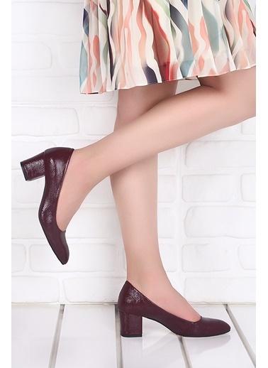 Ayakland Ayakland 1990-2023 Kırık Rugan 5 Cm Topuk Bayan Ayakkabı Bordo